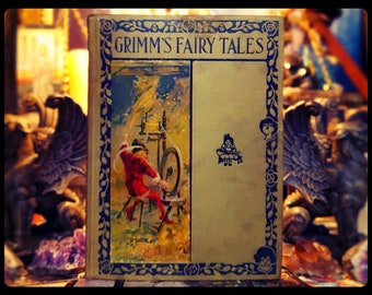 """1910s GRIMMS FAIRY TALES Witches Fairies """"Crazy Rare"""" Gorgeous"""