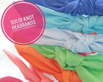 Solid Knotted Headband