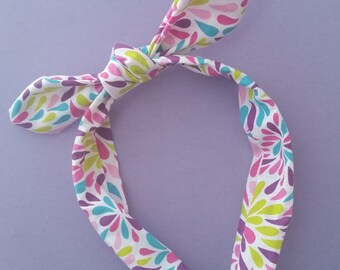 Color Burst Knotted Headband