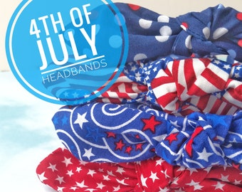 4th Of July Knotted Headband