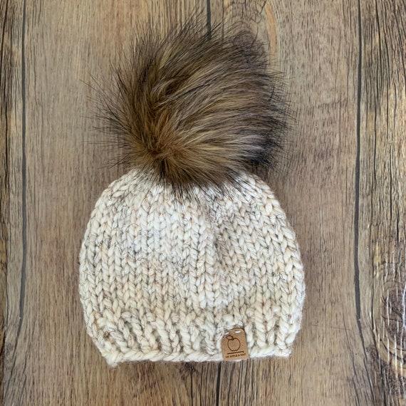 New Handmade Knitted Newborn Girl Boy Pom Pom Beanie Hat Cap Toque