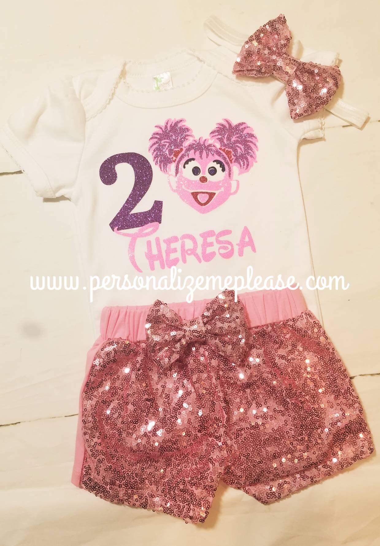 Girl Abby Cadaby Birthday Outfit Sesame Street Birthday Etsy
