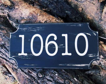 Mailbox Sign. Address Sign. Address Number. Address Plaque. Housewarming Gifts. Personalized Address Sign. Routed Address Sign. Wooden Sign.