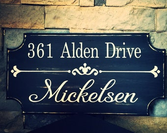 Double Sided Mailbox Sign. Name Sign. Address Sign. Address Plaque. Housewarming Gift. Personalized Address Sign. Routed Address Sign.