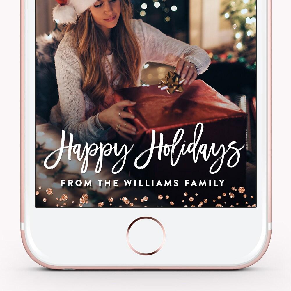 Weihnachten Snapchat Filter Weihnachten Snapchat Geofilter | Etsy