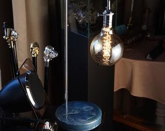 Exclusive table lamp Pride&Joy Blue epoxy resin design Accent lamp Home decor gifts Unique epoxy resin lamps Lights for home Gifts lighting