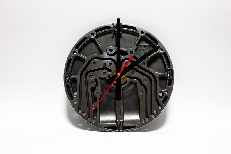 Industrial wall clock Pride&Joy car part decorative clock gift image 0