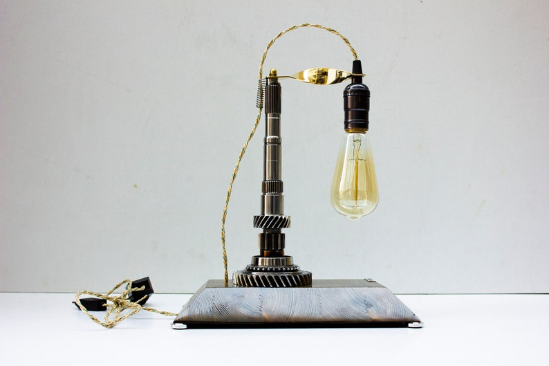Industrial Table Lamp Pride&Joy steampunk car part lamp Gift image 0
