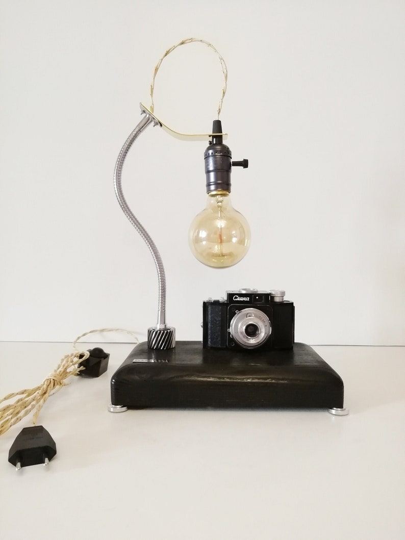 Camera lamp Pride/&Joy gifts for him old camera lights gifts for her vintage camera lamp retro camera lamp unique gifts engraving home decor