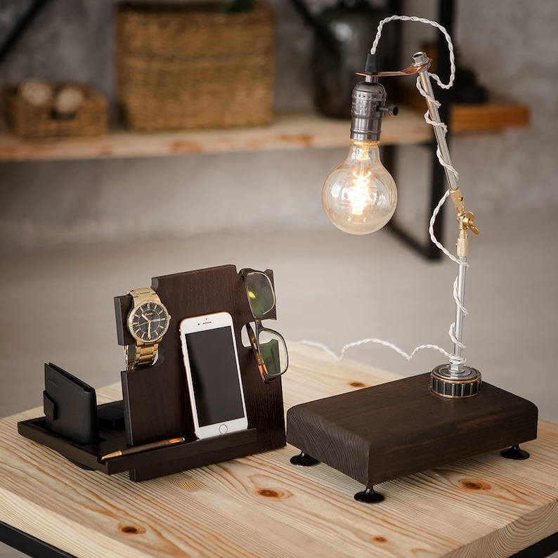 Table Lamp Pride/&Joy desk lamp wooden lamps unique lights home decor lighting decorative office lamps room decor lights dimmer gifts brown