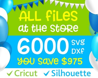SVG BUNDLE Svg Files Cricut Bundle Svg ALL Files in Shop Dxf Bundle Clip arts svg Silhouette Files svg Monogram fonts svg pack Entire Shop