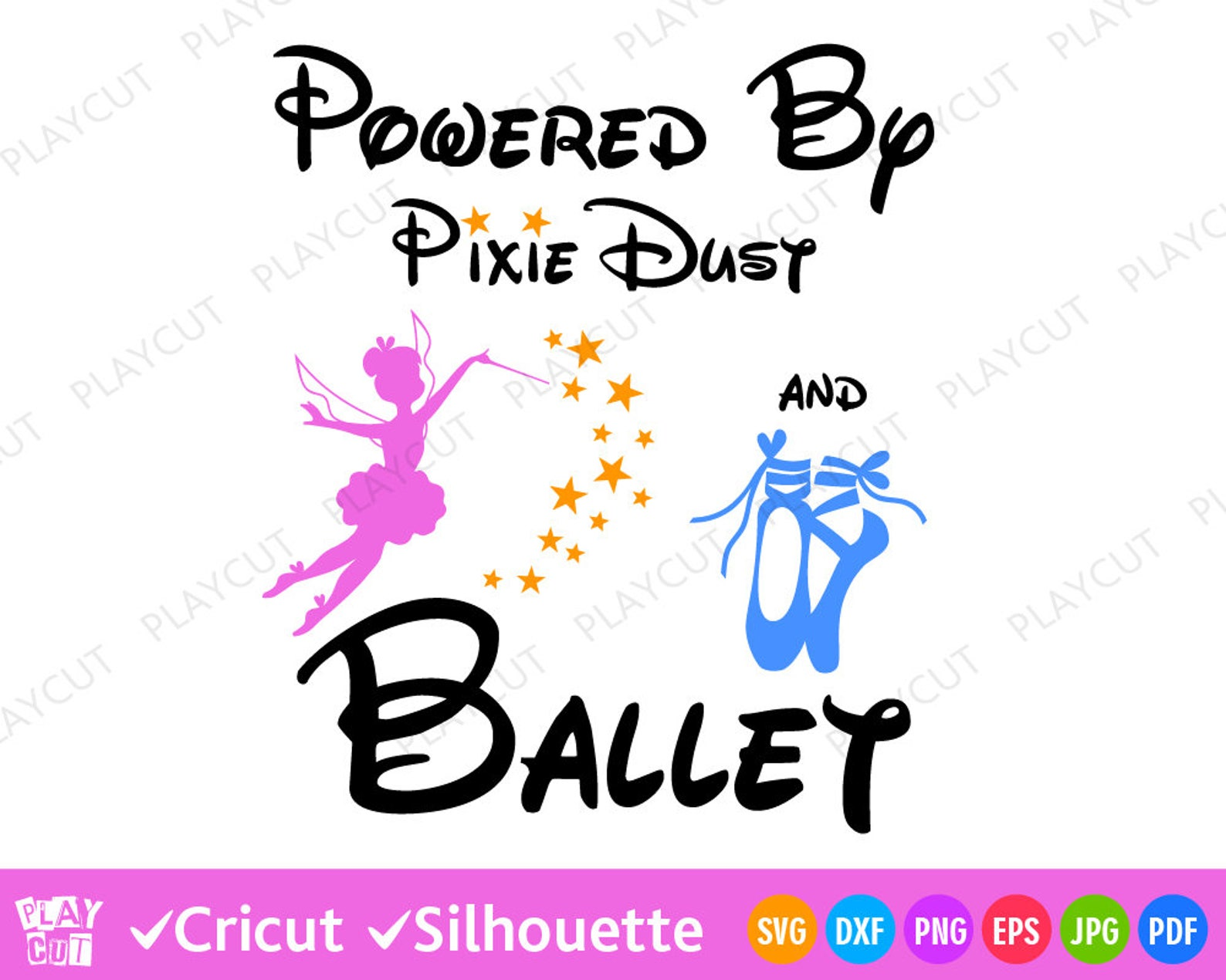 pixie dust svg ballet quote svg fairy star and pointe shoes svg wording for little dancer princess svg files for cricut silhouet