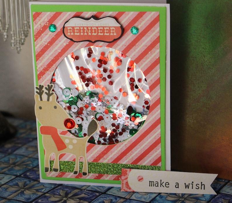 cf1c72831 Shaker card set Christmas cards reindeer let it snow