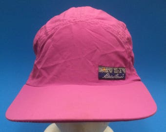 d33c7b9c6c5 Vintage Eddie Bauer strap back hat long bill