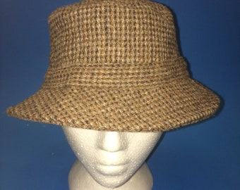 8209a3c5cfde Vintage LL Bean harris Tweed Gor-tex Bucket Hat Size Small Wool hand woven  100% Scottish wool