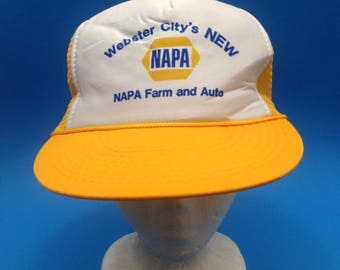 2344d24d7c5 Vintage NAPA Auto and Farm Trucker SnapBack Hat Adjustable