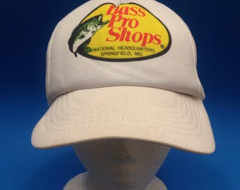 20fe12fff3b Vintage Bass Pro Shops Trucker SnapBack Hat 1980s Adjustable