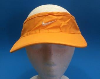 08f5e2a386495 Vintage Nike Golf Visor Strapback Hat Adjustable 1990s