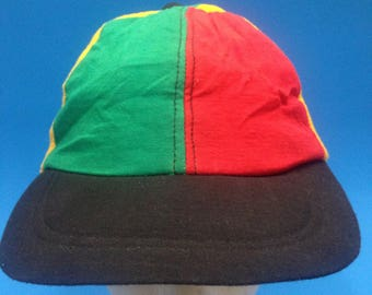 1b736ae1273ad Vintage Blank African Colour block SnapBack hat blank malcom x new without  tags! Malcom x 80s 90s hip hop