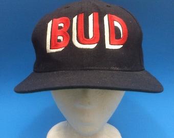 Vintage Bud Light New era Snapback Hat Adjustable 1990s
