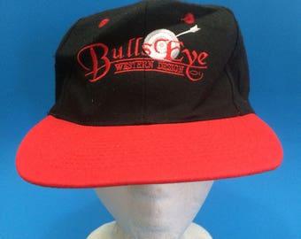 Vintage Bulls Eye Western Wear SnapBack Hat Adjustable 1990s