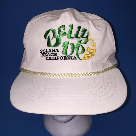 285cc9c1f57 Vintage Solana Beach California Belly up Trucker Snapback Hat Adjustable  1980s