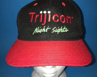 Vintage Trijicon Night Sights Snapback Hat Adjustable 1990s