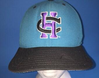 Vintage charlotte hornets new era snapback Hat adjustment 1990s