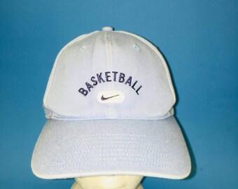 Vintage Nike Basketball Strapback Hat Light blue