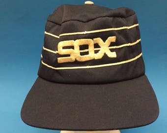 Vintage Chicago White Sox Trucker Hat Panel 1980s snapback size medium