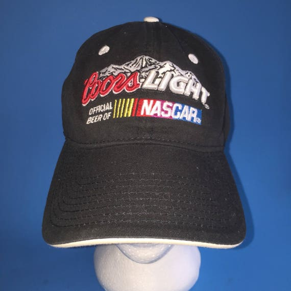 2b1d4b1ce51 ... sweden vintage coors light nascar strapback hat adjustable 1990s beer  etsy 25ea0 9a685