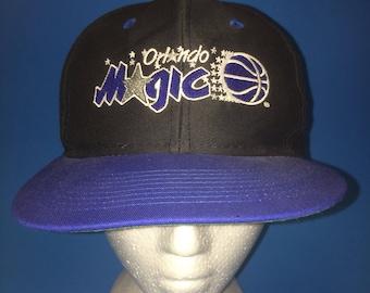 Vintage Orlando Magic SnapBack Hat Adjustable 1990s logo 7