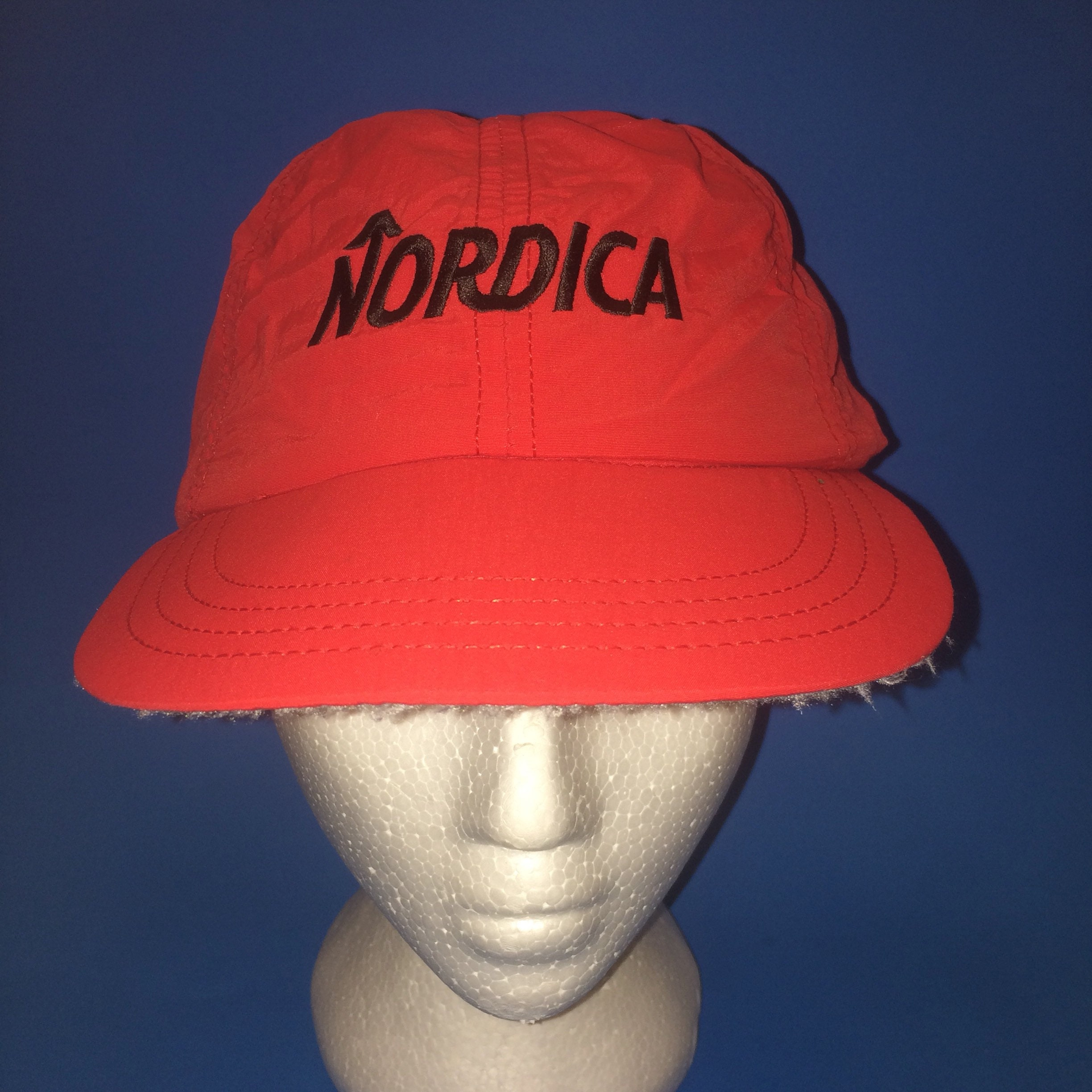 7654ad66c7c Vintage Nordica Snow Company Shoes Adjustable Fitted hat