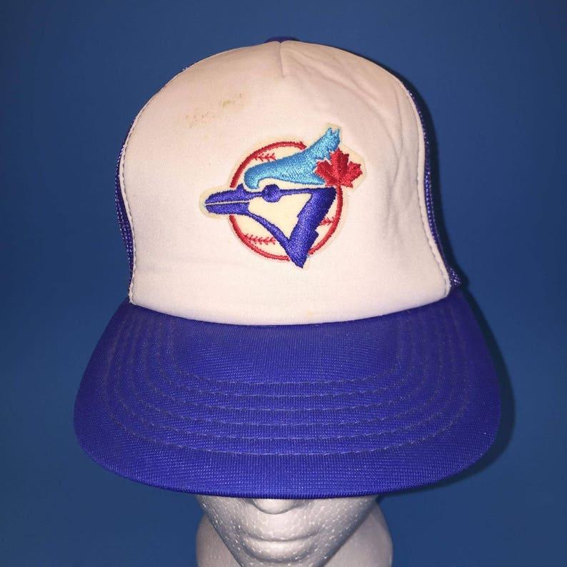 e479e55bd Vintage Toronto Blue Jays Trucker SnapBack Hat Adjustable 1980s MLB