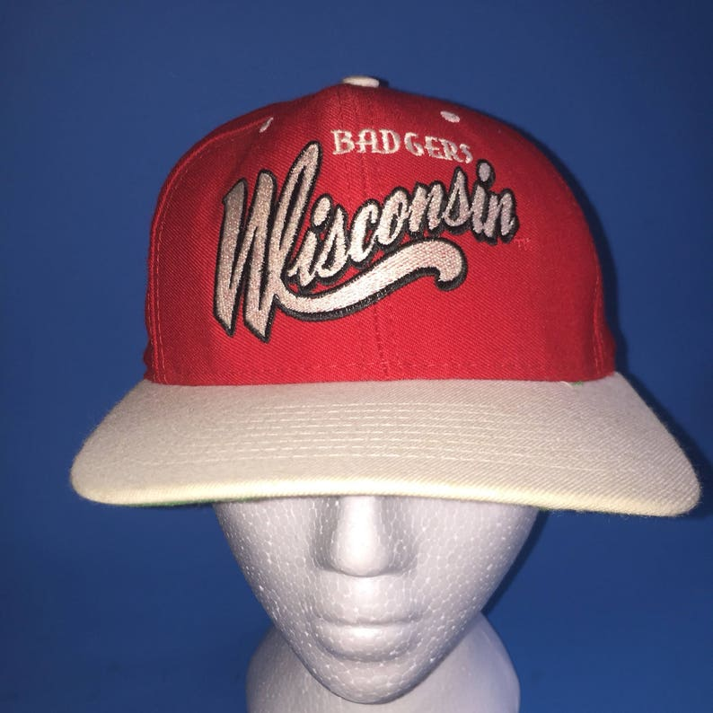 8d559c41d79063 Vintage Wisconsin Badgers snapback hat adjustable 1990s | Etsy