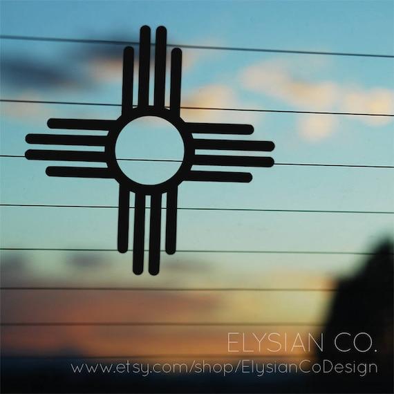 Zia Decal Sun Symbol New Mexico Native American Vinyl Etsy