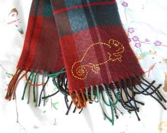 Scottish small Chameleon pattern scarf