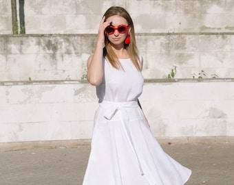 9c450d404f4 Linen tunic dress Shift dress Loose tunic dress White short