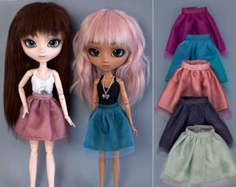 Tulle skirt, top and necklace for Pullip, Pure Neemo, Azone, Blythe, Dal, Obitsu 27, Obitsu 23 dolls