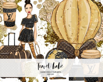 b3df1a80f5824 Travel Babe Fashion Clip Art