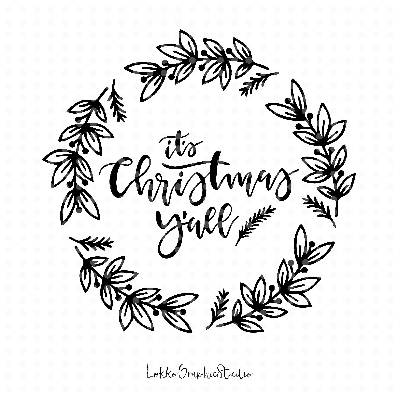 Merry Christmas SVG Christmas Svg Christmas Cut File