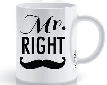 Mr. Right His Coffee Mug