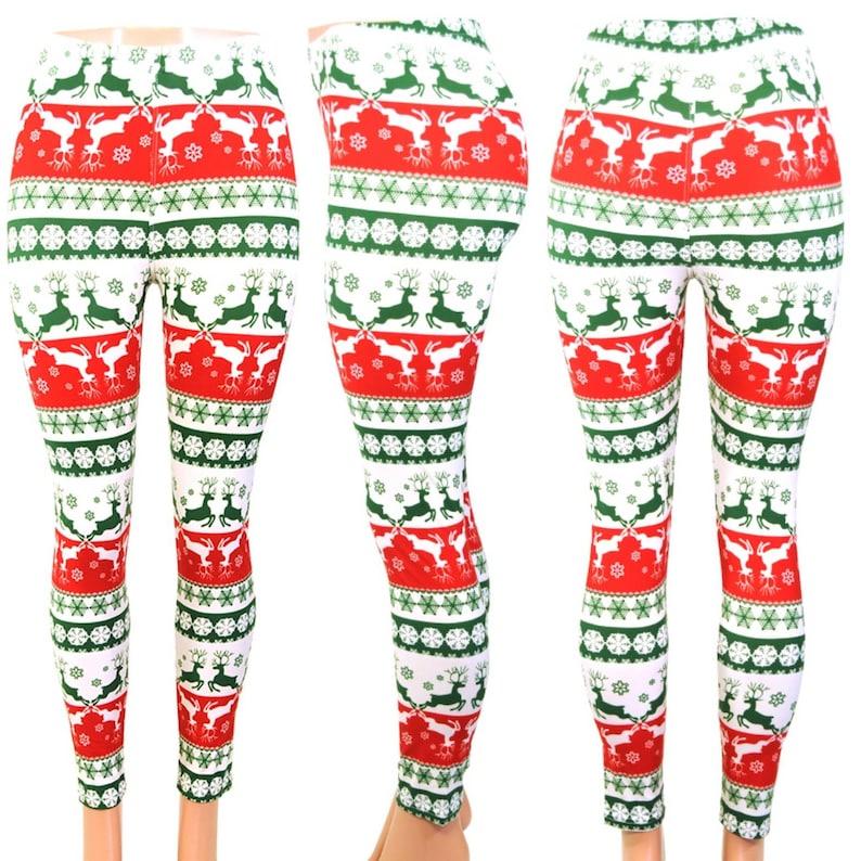 bb26d4e4c8924 Red Christmas Leggings Super Soft Spandex Leggings | Etsy