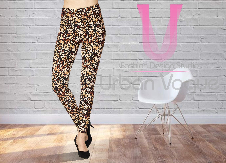 3bedd03c93a2 Cheetah Print Leggings Super Soft Spandex Leopard Print | Etsy