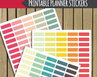 printable planner stickers, printable blank labels, printable digital stickers, printable stickers, digital planner stickers, section header