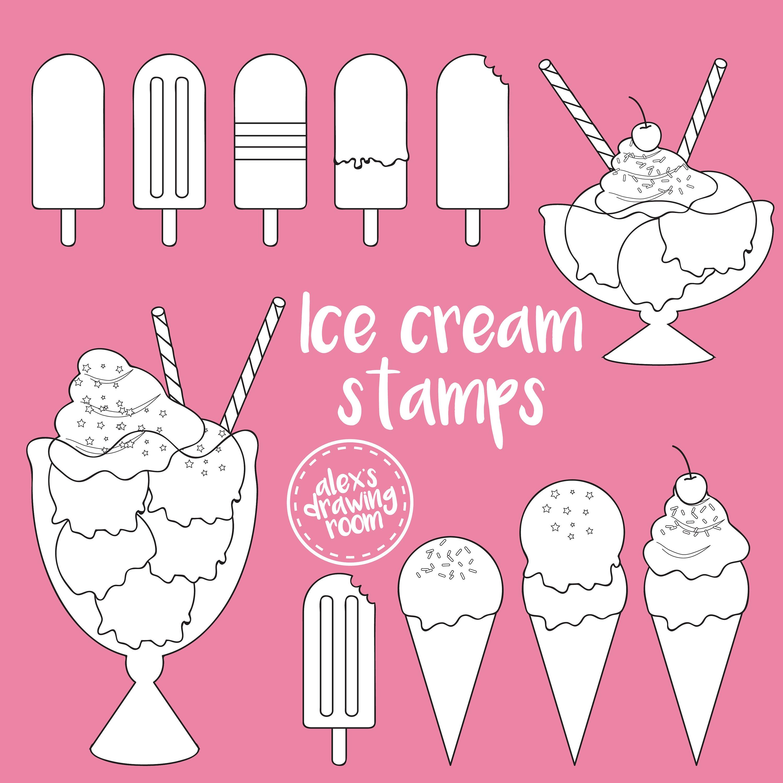 Ice cream clipart ice cream cone clipart ice cream clip art | Etsy