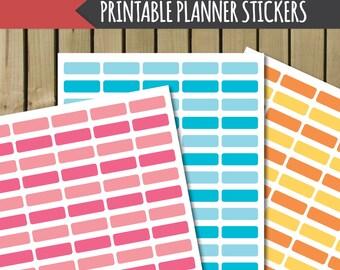 printable planner stickers, printable blank labels, printable digital stickers, printable stickers, digital planner stickers, pdf