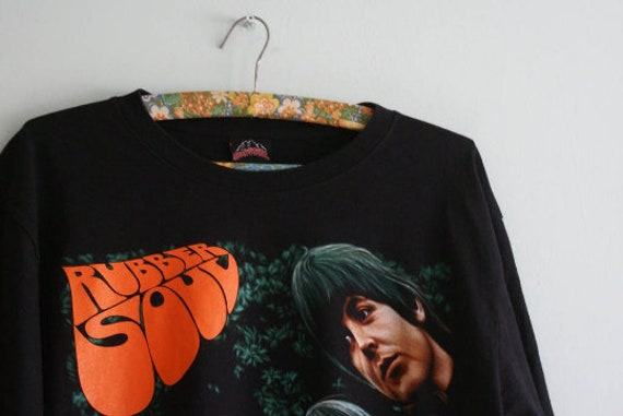 The Beatles T-shirt, Vintage The Beatles Rubber S… - image 4