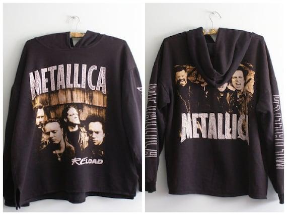 Metallica Reload Hoodie, Vintage  Metallica Longsl