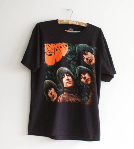 The Beatles T-shirt, Vintage The Beatles Rubber So